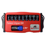 10-teiliges Torsions-Impact-Bit Set