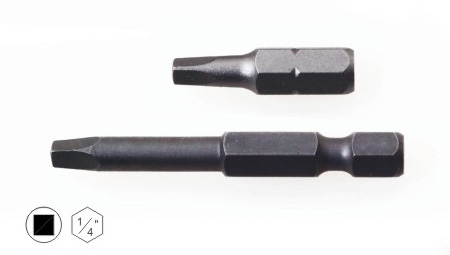 square screwdriver bit, square drive screwdriver bits